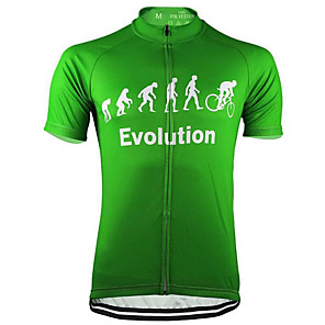 cheap Cycling Jerseys-21Grams Men's Short Sleeve Cycling Jersey Yellow Red Grey Evolution Bike Jersey Top Mountain Bike MTB Road Bike Cycling UV Resistant Breathable Quick Dry Sports Clothing Apparel / Micro-elastic