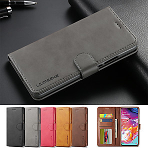cheap Samsung Case-Leather Flip Stand Magnetic Wallet Phone Case For Samsung Galaxy A90 A80 A60 A20e Cover Card Holder