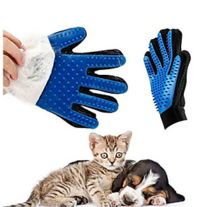 cheap Other Hand Tools-Nicrew Glove For Cats Cat Grooming Pet Dog Hair Deshedding Brush Comb Glove For Pet Dog Finger Cleaning Massage Glove For Animal