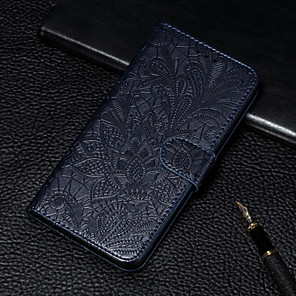 cheap Samsung Case-Case For Samsung Galaxy S10E / S10 Plus / S10 Wallet / Card Holder / with Stand Full Body Cases Flower PU Leather for S9 / S9 Plus / S10 / S10E / S10 Plus