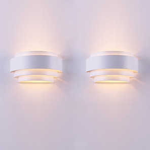cheap Flush Mount Wall Lights-2PCS Contemporary Contracted Individual Character Arc Originality Wall Lamp Applies To Sitting Room/Bedroom