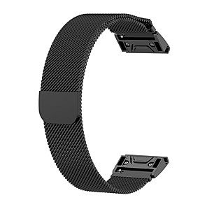 cheap Cell Phone Cables-Watch Band for Fenix 5x / Fenix 5s / Fenix 5 Garmin Milanese Loop Stainless Steel Wrist Strap