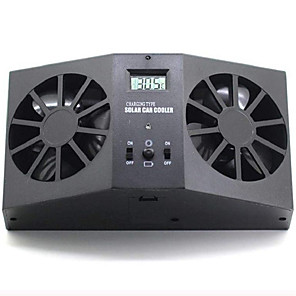 cheap Car Life Appliances-Car Interior Auto Air Vent Solar Powered Cool Fan Ventilation System Dual-Fan Ventilator
