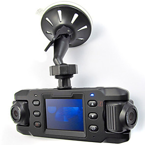 cheap Car DVR-X8000 HD 140 Wide Angle Dual Lens Car DVR Vehicle Camera Video Recorder with GPS