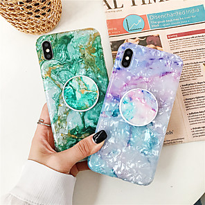 cheap iPhone Cases-Case For Apple iPhone XS / iPhone XR / iPhone XS Max with Stand / Pattern Back Cover Marble TPU for iPhone X 8 8PLUS 7 7PLUS 6 6S 6PLUS 6SPLUS