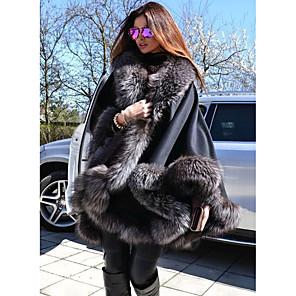 cheap Wedding Wraps-Long Sleeve Coats / Jackets Faux Fur / Polyester Taffeta Wedding Women's Wrap With Fur