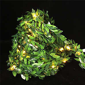 cheap LED String Lights-DRXENN 10m String Lights 100 LEDs 1pc Warm White Valentine's Day Christmas Party Decorative Holiday AA Batteries Powered