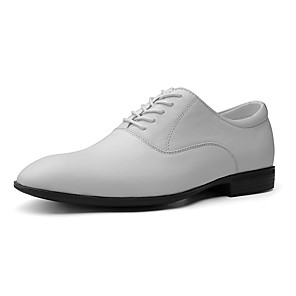 cheap Men's Slip-ons & Loafers-Men's Formal Shoes Nappa Leather / Pigskin Spring & Summer Classic / Casual Oxfords Non-slipping Black / White / Brown / Party & Evening / Party & Evening / Leather Shoes