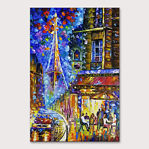 cheap Famous Paintings-Oil Painting Hand Painted - Landscape Abstract Landscape Modern Rolled Canvas