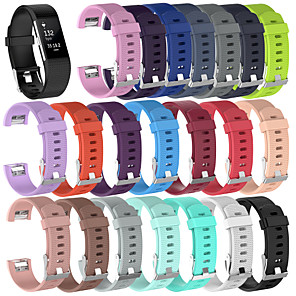 cheap Smartwatch Bands-Watch Band for Fitbit Charge 2 / Fitbit Charge 2 HR Fitbit Sport Band Silicone Wrist Strap