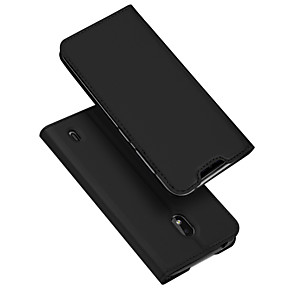 cheap Other Phone Case-Case For Nokia Nokia 2.2 Card Holder / with Stand / Flip Full Body Cases Solid Colored PU Leather / TPU
