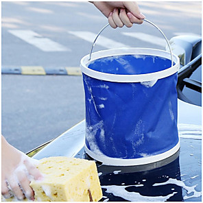 cheap Vehicle Cleaning Tools-13L Wash car folding bucket Easy To Carry Mist Deep Blue