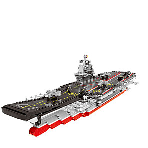 cheap Building Blocks-Building Blocks 1 pcs Warship compatible ABS+PC Legoing Simulation Aircraft Carrier All Toy Gift / Kids