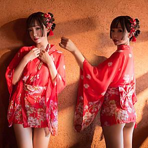 cheap Anime Costumes-Women's Cosplay Adults' Sexy Lady Cosplay Costume Masquerade Japanese Traditional Kimono Kimono Coat