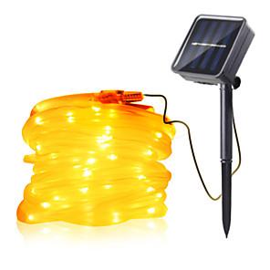 cheap LED String Lights-7m String Lights Outdoor String Lights 50 LEDs 1Set Mounting Bracket 1 set Warm White RGB White Waterproof Solar Creative Solar Powered