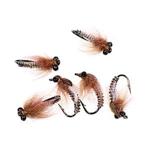 cheap Fishing Lures & Flies-6 pcs Flies Flies Sinking Bass Trout Pike Sea Fishing Fly Fishing Lure Fishing Metal