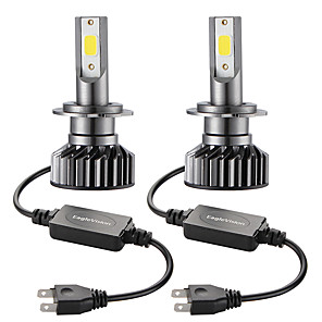 cheap Car Headlights-2PCS Mini Car LED Headlight Bulb  H7 Hi/Lo 72W 10000LM Car Headlight Car Front Bulb Super Bright White Beam 6000K 12V Car Modeling Fog Light Kit