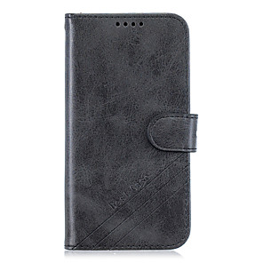 cheap Other Phone Case-Case For LG / Motorola / OnePlus LG V50 / LG V50 ThinQ / LG K30 Wallet / Card Holder / with Stand Full Body Cases Solid Colored PU Leather