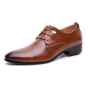 cheap Men's Oxfords-Men's Dress Shoes Derby Shoes Fall Business / Classic / British Daily Party & Evening Office & Career Oxfords PU Non-slipping Wear Proof Black / Brown Gradient