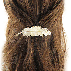 cheap Hair Jewelry-Women's Hair Jewelry For School Festival Floral / Botanicals Gold Plated Silver Golden 1