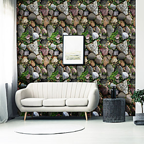 cheap Wall Stickers-Vintage Stone Self Adhesive Wallpaper 3D Waterproof Home Decor Wallpapers for Living Room Decorative Wall Stickers 45CM*100CM
