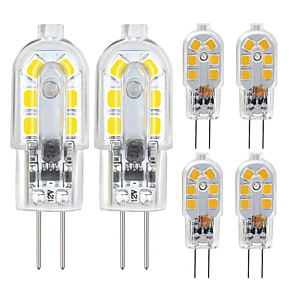 cheap LED Bi-pin Lights-6 Pack G4 2.5W LED Bulb 2835 LED Bi-pin G4 Base 20W Halogen Bulb Replacement Warm White /Cold White DC12V