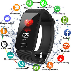cheap Smart Wristbands-Q1 Unisex Smart Wristbands Android iOS Bluetooth Waterproof Heart Rate Monitor Blood Pressure Measurement Distance Tracking Information Pedometer Call Reminder Activity Tracker Sleep Tracker