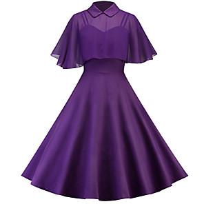 cheap Historical & Vintage Costumes-Audrey Hepburn Retro Vintage 1950s Dress Masquerade Women's Tulle Costume Black / Wine / Purple Vintage Cosplay Party