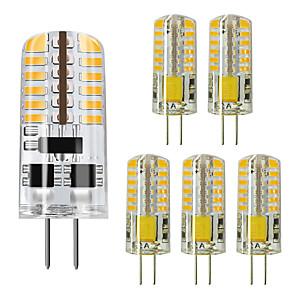 cheap LED Bi-pin Lights-ZDM® 6pcs 5 W LED Bi-pin Lights 450 lm G4 48 LED Beads SMD 3014 Warm White Cold White 12 V / RoHS