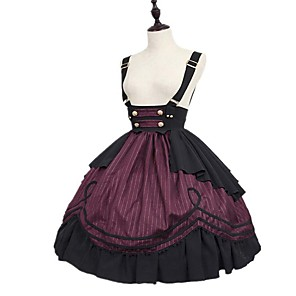 cheap Lolita Dresses-Adults' Women's Cosplay Retro Medieval Skirt Cosplay Costume For Party Halloween Festival Polyster Halloween Carnival Masquerade Skirt