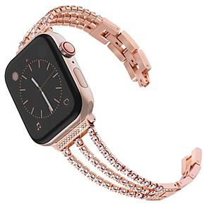 cheap Smartwatch Bands-New Women Diamond Watch Band For Apple Watch 40mm/44mm/38mm/42mm iWatch Series 4 3 2 1 Stainless Steel Strap Sport Bracelet