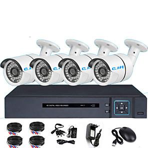cheap Test, Measure & Inspection Equipment-HDMI 4CH HD DVR Set Coaxial Analog Surveillance Camera 1080P Shop Monitor Remote One Machine 2 Million