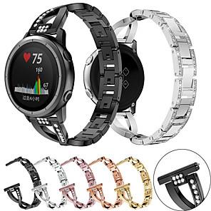 cheap Smartwatch Bands-For Garmin Forerunner 645 / 245 / Vivomove HR / Vivoactive 3 Smart Watch Stainless Steel Watch Band Strap