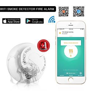 cheap Security Sensors-Wifi Smoke Detector Smoke Alarm Tuya Graffiti App Smart Home