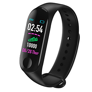 cheap Smart Watches-Smartwatch Digital Modern Style Sporty Silicone 30 m Water Resistant / Waterproof Heart Rate Monitor Bluetooth Digital Casual Outdoor - Black Red Blue