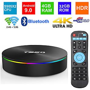 T95Q 4GB//32GB Android 8.1 TV BOX S905X2 Quad Core 2.4G/&5G WiFi BT4.1 4K 3D Media