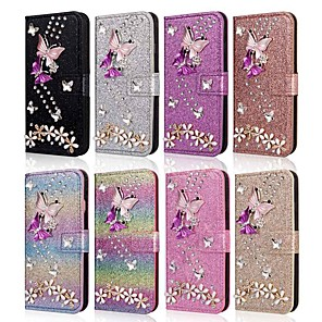 cheap Door Locks-Case For Samsung Galaxy A51 M40S A71 Wallet  Shockproof Butterfly Diamond Glitter PU Leather Case For Samsung S20 Plus S20 Ultra A20e A50s A30s A10 A60  A70 A80 S10E S10 5G  S10 Plus  Note 10 Plus Not
