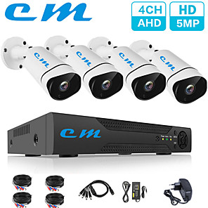 cheap NVR Kits-4CH Monitoring Set 5 Million High-definition Camera CCTV DVR One Machine Camera Wired Surveillance Camera