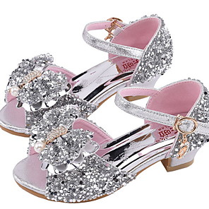 cheap Kids' Tiny Heels-Girls' Sandals Comfort Synthetics Little Kids(4-7ys) Rhinestone Pink / Silver Summer