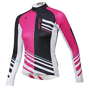 cheap Cycling Jerseys-ILPALADINO Women's Long Sleeve Cycling Jersey Winter Fleece Purple Yellow Red Plus Size Bike Top Mountain Bike MTB Road Bike Cycling Waterproof Breathable Quick Dry Sports Clothing Apparel / Stretchy