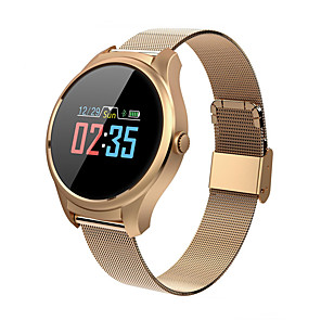 cheap Smartwatches-Smartwatch Digital Modern Style Sporty 30 m Water Resistant / Waterproof Heart Rate Monitor Bluetooth Digital Casual Outdoor - Black Gold Silver