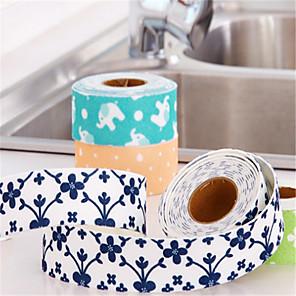 cheap Wall Stickers-Caulking Tape Flexible Self Adhesive Sealing Strip Waterproof  Repair Tape for Kitchen Bathroom Tub Shower Floor Wall Edge Protector Mildew Sealing