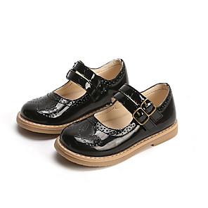 cheap Kids' Flats-Girls' Comfort PU Flats Little Kids(4-7ys) Buckle Wine / Black / Coffee Summer
