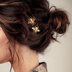cheap Hair Jewelry-Women's Hair Jewelry For Going out Birthday Gold Plated Golden 1