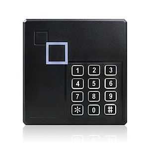 cheap Access Control & Attendance Systems-Generic Weatherproof 125KHz Wiegand 26 26bit Access Control Keypad RFID Reader Color Black