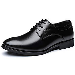 cheap Latin Shoes-Men's Formal Shoes Microfiber Spring & Summer / Fall & Winter Business / Casual Oxfords Breathable Black