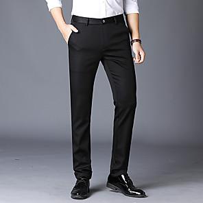 cheap Custom Tuxedo-Men's Basic Dress Pants Pants Solid Colored Black Khaki Navy Blue US34 / UK34 / EU42 US36 / UK36 / EU44 US38 / UK38 / EU46