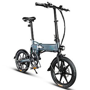 cheap Smartphones-FIIDO D2S Folding Moped Electric Bike Gear Shifting Version City Bike Commuter Bike E-Bike 16-inch Tires 250W Motor Max 25km/h 7.8Ah Battery Power Assisted Electric Bicycle for Adult