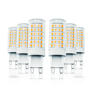 cheap LED Bi-pin Lights-LOENDE 6pcs 7 W LED Corn Lights LED Bi-pin Lights 800 lm G9 T 78 LED Beads SMD 2835 Dimmable Warm White White 110-130 V 200-240 V