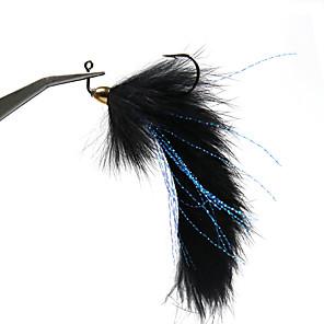 cheap Fitness Gear & Accessories-3 pcs Flies Flies Sinking Bass Trout Pike Sea Fishing Fly Fishing Jigging Fishing Metal